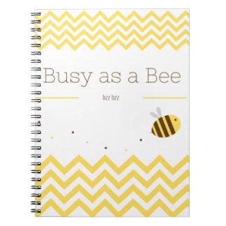 Caderno Espiral Ocupado como uma abelha