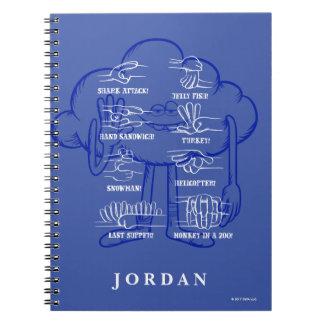 Caderno Espiral Ondulação da cara da nuvem dos troll |