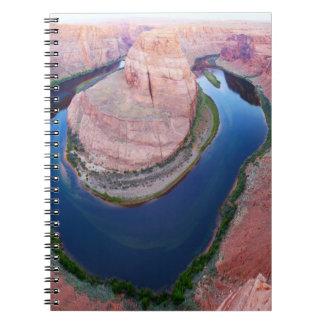 Caderno Espiral Opinião superior da arizona em ferradura da