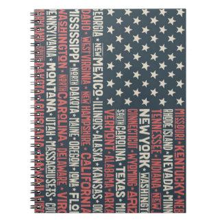 Caderno Espiral Os Estados Unidos da América |States & capitais
