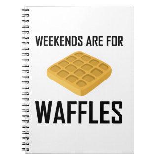 Caderno Espiral Os fins de semana são para Waffles
