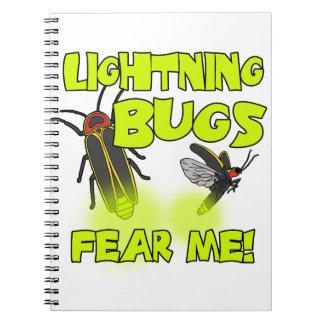 Caderno Espiral Os insetos de relâmpago temem-me