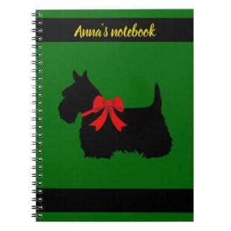 Caderno Espiral Os Scottish Terrier preto/branco