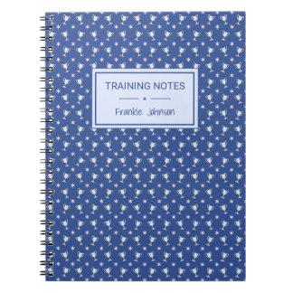 Caderno Espiral Ostenta o treinamento azul modelado troféu