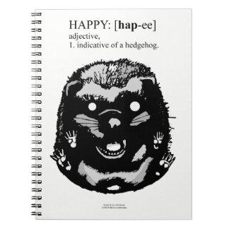 Caderno Espiral Ouriço feliz