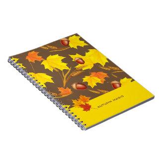 Caderno Espiral Outono dourado