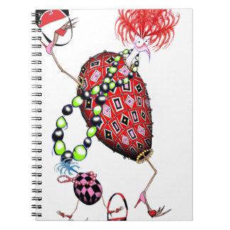 Caderno Espiral Ovo fabuloso do rubi vermelho de Tony Fernandes