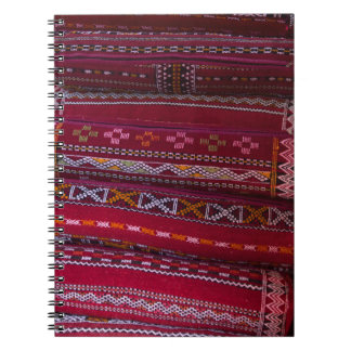 Caderno Espiral Padrões do travesseiro de matéria têxtil