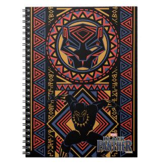 Caderno Espiral Painel da pantera preta de pantera preta |