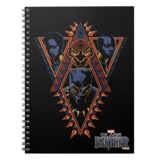 Caderno Espiral Painel tribal dos guerreiros da pantera preta |