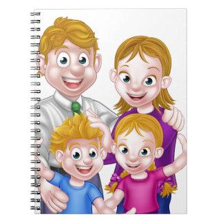 Caderno Espiral Pais e miúdos dos desenhos animados