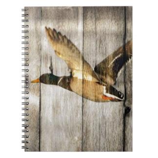 Caderno Espiral País ocidental de madeira do celeiro rústico que