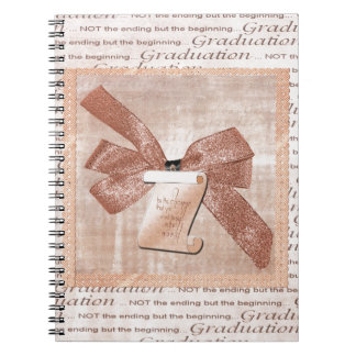 Caderno Espiral Palavras da graduação, arco grande com diploma,