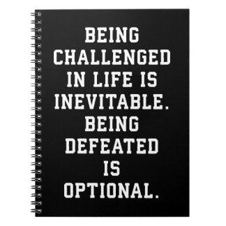 Caderno Espiral Palavras inspiradas - desafio contra a derrota