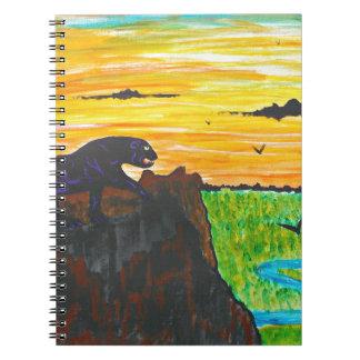 Caderno Espiral Pantera no prowl