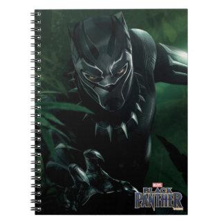 Caderno Espiral Pantera preta | na selva