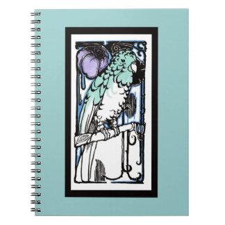 Caderno Espiral Papagaio dos anos 20
