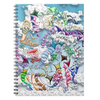 Caderno Espiral Papagaios de luta -- Azul