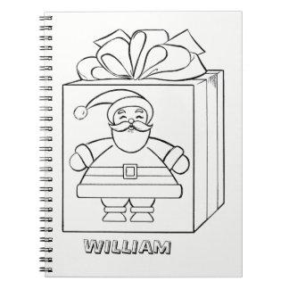 Caderno Espiral Papai Noel e atuais colorem-me personalizado