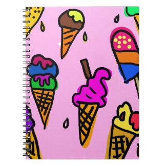 Caderno Espiral Papel de parede do sorvete