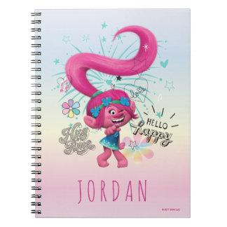 Caderno Espiral Papoila dos troll | olá! feliz