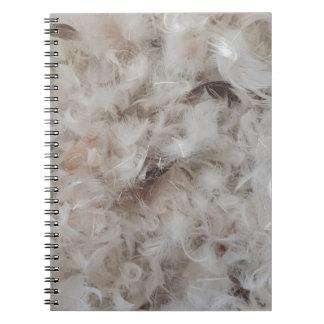 Caderno Espiral Para baixo o cobertor empluma-se a fotografia