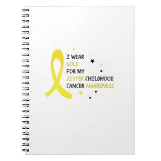 Caderno Espiral Para minha luta da consciência do cancer da