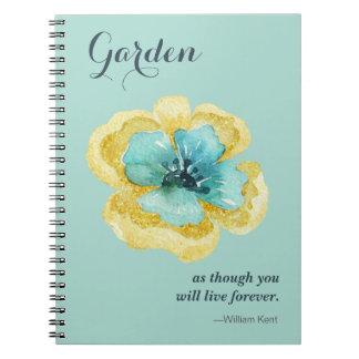 Caderno Espiral Para o amante do jardim!