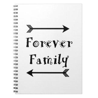 Caderno Espiral Para sempre família - design de Adpotion