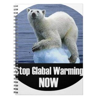 Caderno Espiral Pare o aquecimento global agora