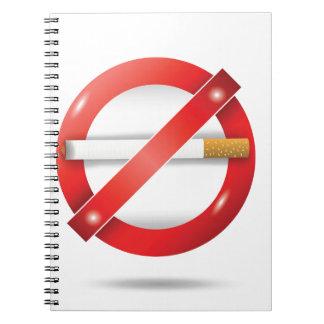 Caderno Espiral pare o cigarro
