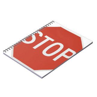 Caderno Espiral Pare o sinal