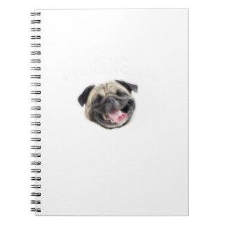 Caderno Espiral Pare Pugging mim presentes engraçados do cão do