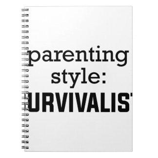 Caderno Espiral Parentalidade do Survivalist