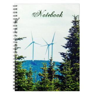 Caderno Espiral Parque natural das turbinas eólicas | do modelo |
