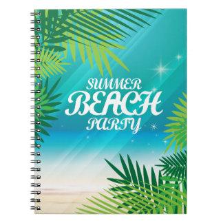 Caderno Espiral Partido da praia do verão