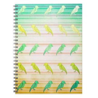 Caderno Espiral Passarinhos tropicais