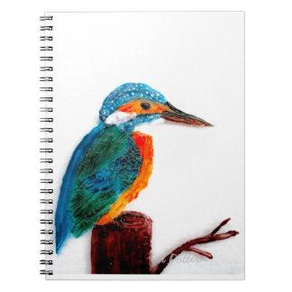 Caderno Espiral Pássaro colorido do martinho pescatore
