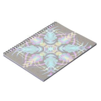 Caderno Espiral Pastel na mandala concreta da rua (variação)