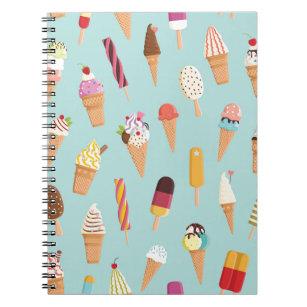 Caderno Espiral Pastels do sorvete