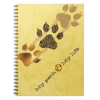 Caderno Espiral Patas do tigre meu trajeto minha vida