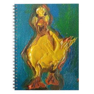 Caderno Espiral Pato feliz