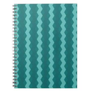 Caderno Espiral Pattern Blue Stripes - Linhas zigzag