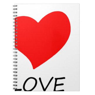 Caderno Espiral paz love16