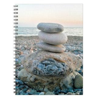 Caderno Espiral Pedras da praia do zen
