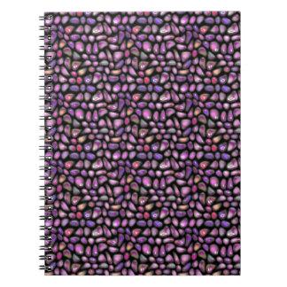 Caderno Espiral Pedras preciosas vívidas