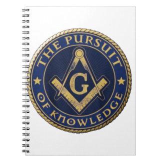 Caderno Espiral Pedreiro a perseguição do conhecimento