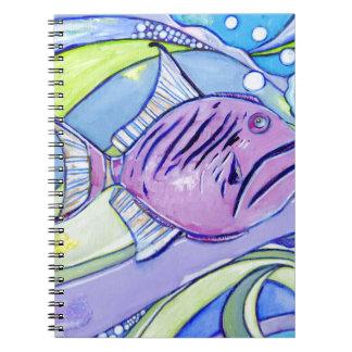 Caderno Espiral Peixes de Surfin