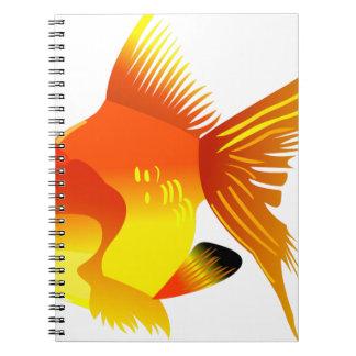 Caderno Espiral Peixes do ouro