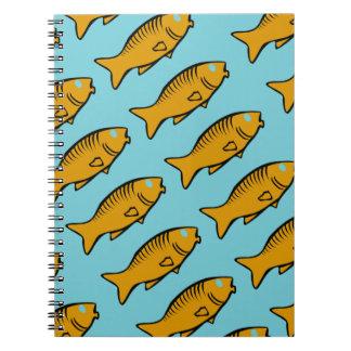 Caderno Espiral peixes que nadam